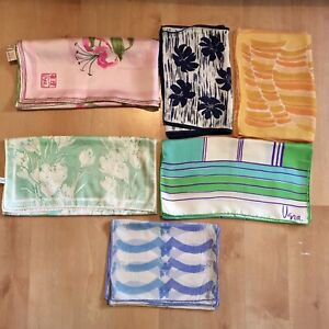 Lot of 6 Vintage Scarves Vera Neumann Incl Silk Ladybug HTF ROC