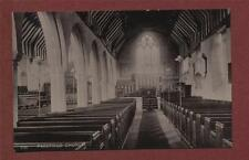 Pakefield Church interior vintage  Photograph Postcard ps.120