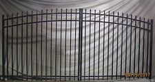 Aluminum Driveway Entry Gate Wrought Iron Drive/Swing-Fencing-Handrails