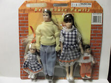 "Miniature Doll House 1:12"" Scale Poseable  Doll Family Of 4"