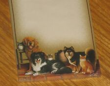 Braldt Bralds Art - Cheese - Dogs & Cats - 2000 Main Street Press List Note Pad