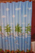 "Dolphins Fabric Shower Curtain 70"" x 72"" Nip"
