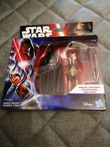 Star Wars The Force Awakens Action Figures Twin Pack. Darth Vader & Ahsoka Tano.