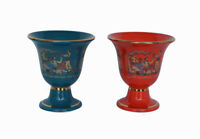 Pythagoras cup Dionysus petrol red two quality cups