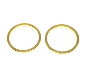 18kt gold plated geometric round circle link drops 20mm
