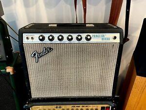 "1975 Fender Princeton Reverb Vintage Tube Guitar Amp 1x10"", 12 watt combo"
