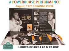 Elvis Box LP/CD Set Elvis August 1970 : A Powerhouse Performance (Orange vinyl)