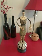 "Vintage 11 3/4"" figure/3 3/4 "" base (Wood and other materials)description & pics"