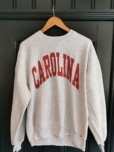 """Vintage Russell Athletic  """"CAROLINA"""" Crew Neck Sweatshirt Size Large"""