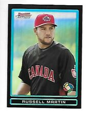 RUSSELL MARTIN  2009 BOWMAN CHROME DRAFT WBC PROSPECTS REFRACTOR #BDPW18