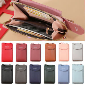 Damen Umhängetasche Mini Handytasche PU Umhängetasche Handtasche Pure Wallet