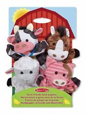 Hand Puppets - Farm & Friends Toy Gift Set For Kids - Melissa and Doug 19080