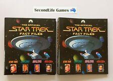 THE OFFICIAL STAR TREK FACT FILES #1-17 & 19-23 ~ Paramount (1997-2002). H