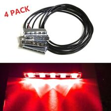 RED 5 LED POD Car Motorcycle Under Glow Accent Rear Brake Side Turn Signal Light