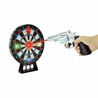 KIDS INFRARED LASER SHOOTING GUN GAME  DART BOARD TARGET RANGE FUN INDOOR