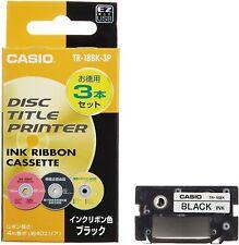 Casio disc title printer ink ribbon TR-18BK-3P Black 3 pieces Cartridge Casette