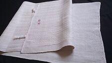 2x old heavy linen kitchen Towels / Runners heavy structured ecru linen