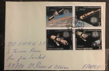 1969 Yemen First Day Cancel Cover FDC To France Mission To The Moon
