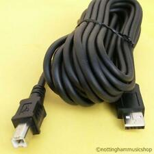 NEW 5 METRE LONG USB (USB2) A-B HIGH QUALITY PC MICROPHONE CABLE PODCAST PRINTER