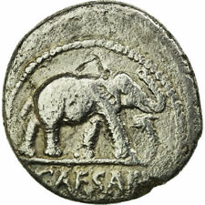 [#653987] Coin, Julius Caesar, Denarius, VF(20-25), Silver, Crawford:443/1