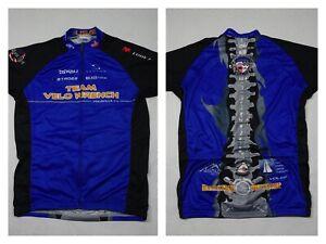 Voler Cycling Jersey Adult Medium Blue Race Raglan Full Zip Back Pockets USA