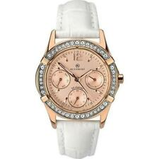 Accurist 8055 Ladies Rose Gold Tone Day/Date Leather Strap Watch RRP £129.99