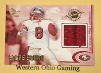 2000 Pacific Prism Prospects Steve Young #9 Game Worn Jersey Card
