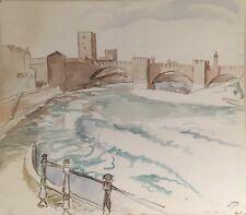 Sophus Paulsen 1883-1935 Pont scaglierie in Verona-ITALIA ITALIA