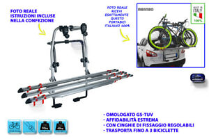 Portabici posteriore NISSAN QASHQAI 2014> kit universale omologato per auto in