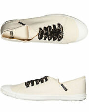 Flat (0 to 1/2 in.) Canvas Lace Up Shoes for Women