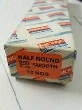 Engineering Files SIMONDS 250mm Half Round Smooth File Genuine x10
