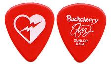 BUCKCHERRY Guitar Pick : 2012 Tour - Stevie D signature picks red heart