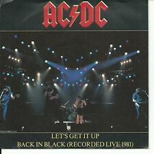 7'AC/DC >Let's get it up/Back in Black(Live 1981)< Germany vg+/Ex