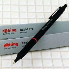 rOtring Rapid Pro Matte Black Hexagon Grip Medium Point Ballpoint Pen [NEW]