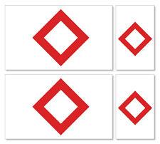 4 X Cristal Rojo Internacional (alterna) Banderas-Pegatina De Vinilo Coche Ipad Laptop