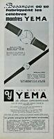 PUBLICITÉ DE PRESSE 1961 LES MONTRES YÉMA REF:7784 ÉTANCHE HOMME ET VIRGINIE