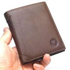 New Men's Leather Wallet Credit Card Purse Vintage Retro Style Blue Mount5301A