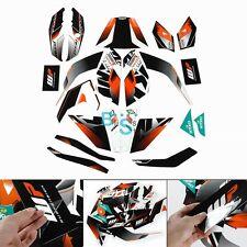 Full Body Custom Decals Graphics Stickers Vinyl Set Fit KTM DUKE 125 200 390 MO