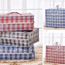 Large plastic strong jumbo laundry shopping storage reusable plastic zip bag *LN