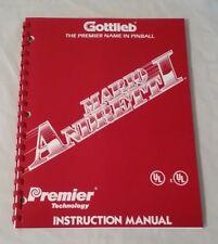 Gottlieb Premier Mario Andretti Pinball Machine Original Manual & Schematics Nos
