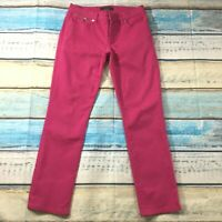 "Ralph Lauren Womens Jeans size 6 Dark Pink Slim Skinny x30"" insm Cotton Stretch"