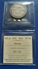 1837 German States HESSE-CASSEL Thaler Silver Coin ICCS VF-30