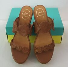 JACK ROGERS LEIGH CORK WEDGE SLIDE ON SANDALS SHOES BROWN SIZE 9.5 NEW! $178