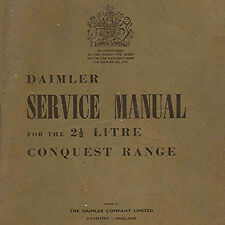 Daimler Consort, DB18 & Conquest workshop manuals plus loads of other info on CD