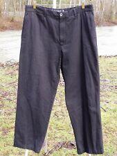 """ZEGNA PANTS 38"""" X 31""""  SOFT ZEGNA CASUAL BLACK COTTON SPORT PANTS METAL BUTTONS"""
