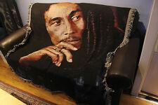 Bob Marley tapestry woven blanket rug throw cotton decoration rock art Reggae