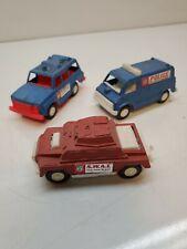 Tootsietoy SWAT Armored Car Police Tank Van SUV Diecast Plastic Vintage Set