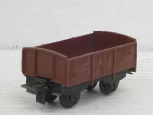 sehr kurzer Niederbordwagen / Waggon, braun, Trix, 1:87 / HO, ohne OVP, alt