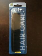 Professional Necessities Hair Care Pocket Comb, Black, Made in USA