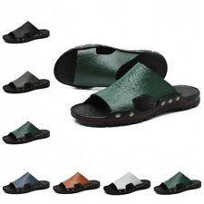 47 48 Men Non-slip Slingabcks Slingabcks Casual Summer Beach Shoes Slides Flat B